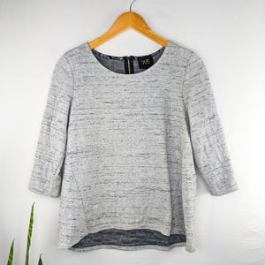 W5 Anthropologie Gray Marled 3/4 sleeve